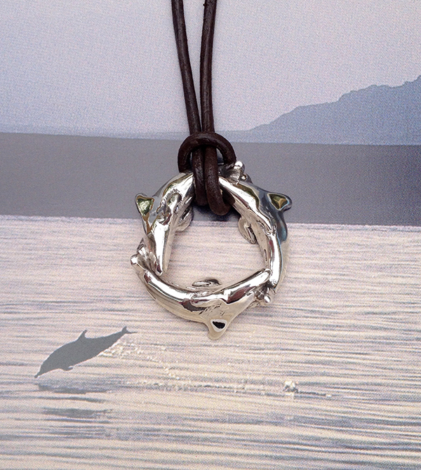 Dolphin necklace by Pa-pa