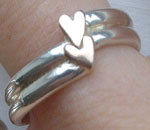 gold hearts ring