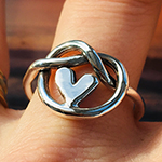 Heart knot friendship ring