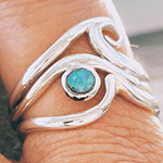 wave stacker ring opal